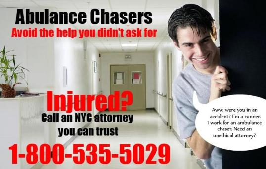 Injured in A Car Accident? Beware Unscrupulous Ambulance Chasers