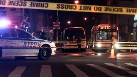 Pedestrian struck, killed by MTA bus on Queens border in Bushwick