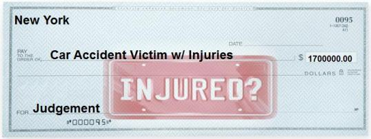 1.7 million For Plaintiff Rear ended in Car Accident